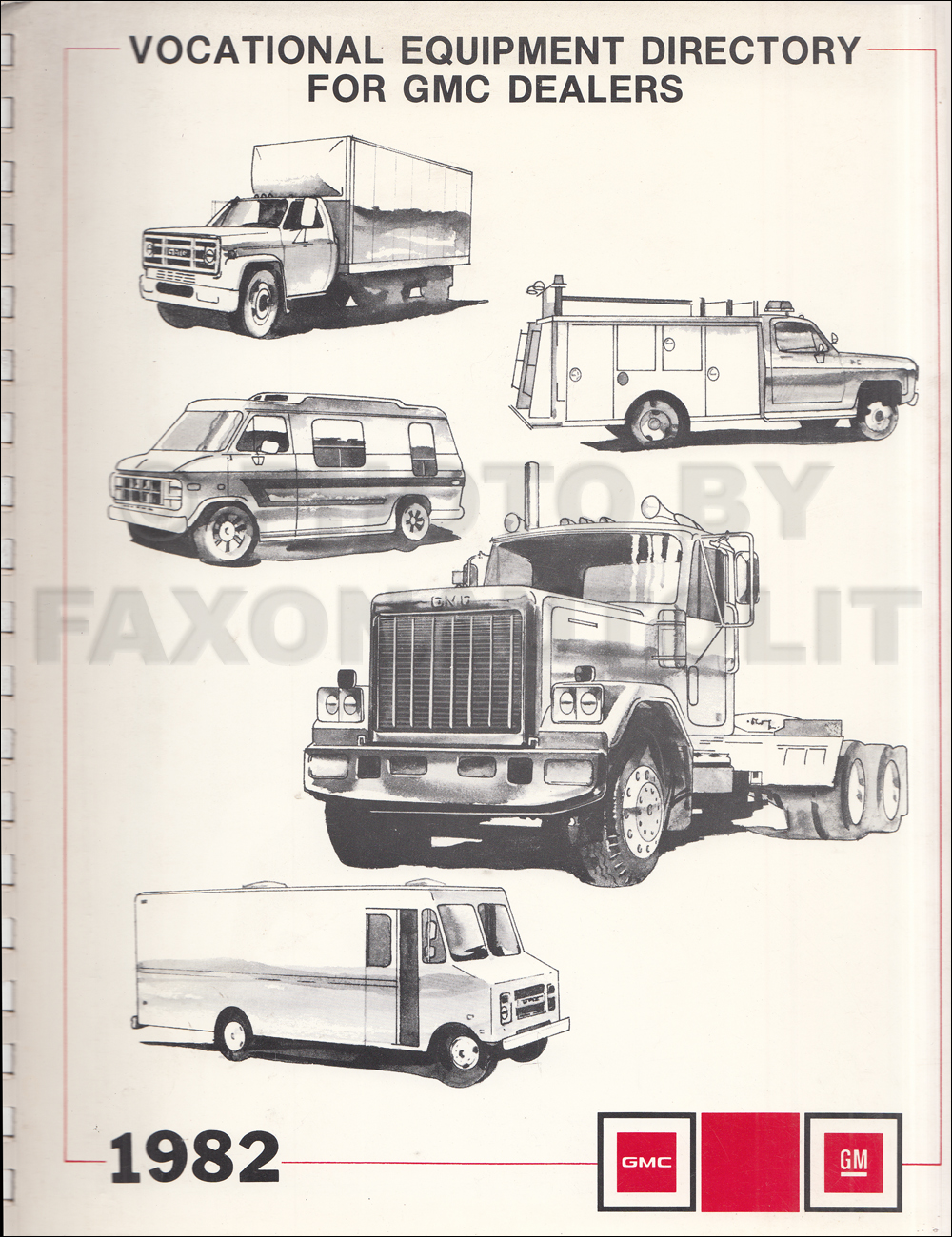 1982 GMC Truck Vocational Equipment Dealer Album
