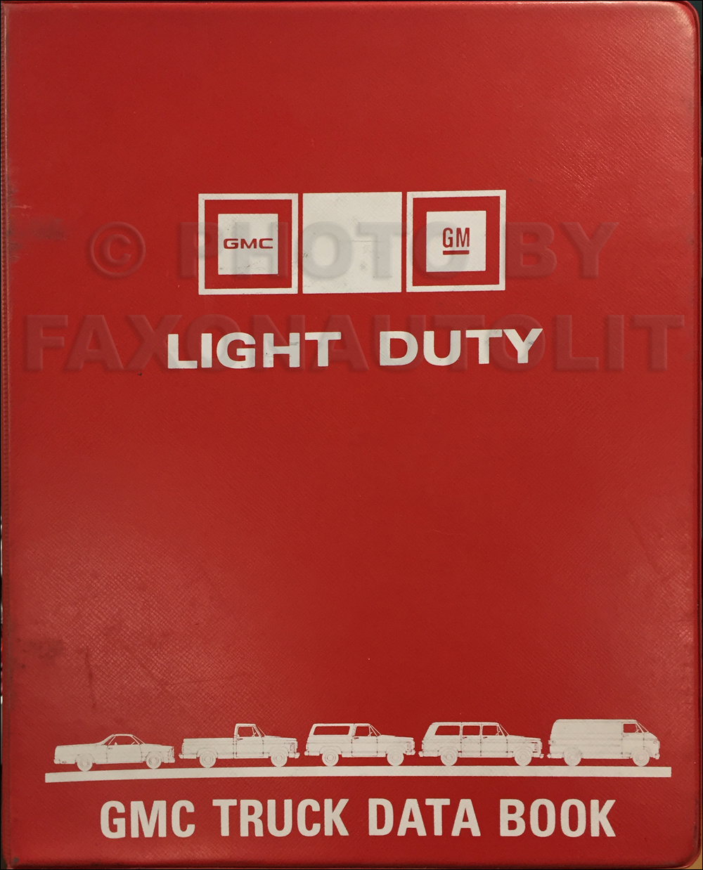 1982 GMC Light Duty Data Book Original