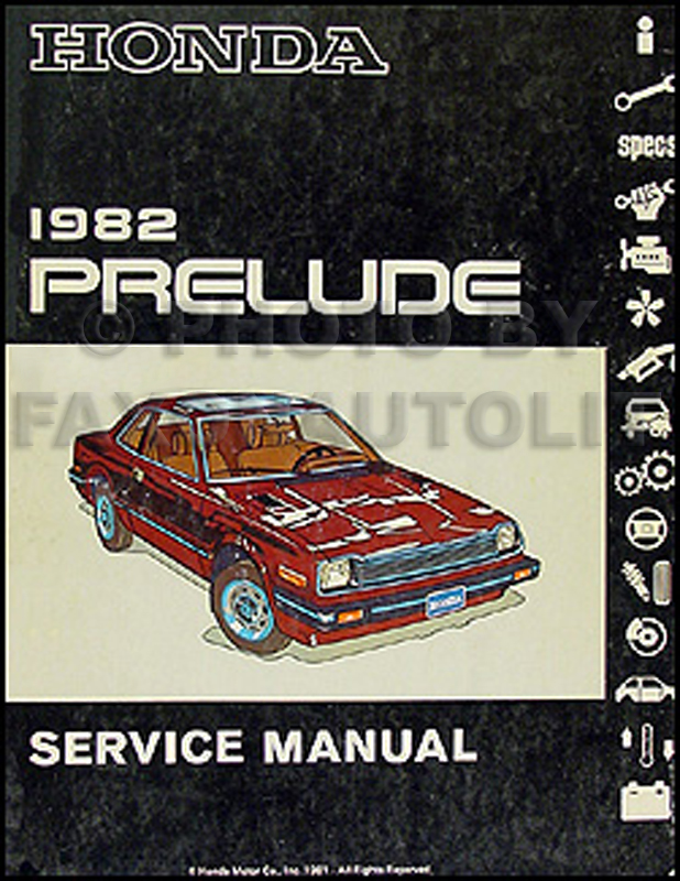 1982 Honda Prelude Repair Manual Original