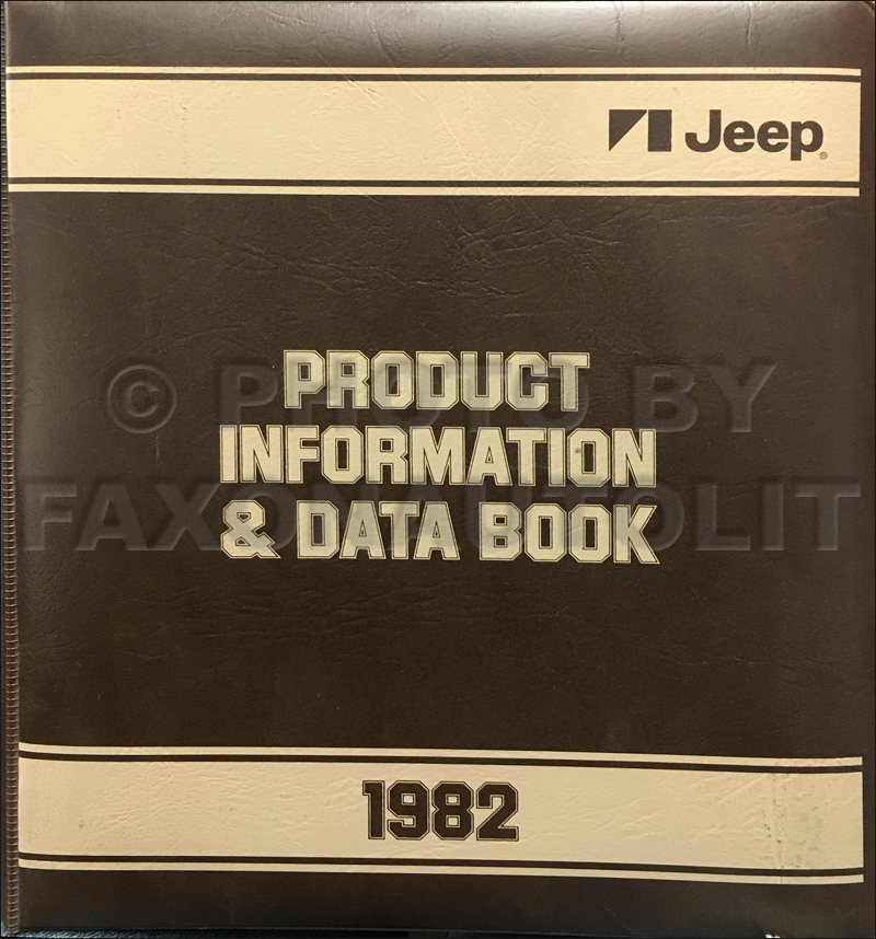 1982 Jeep Color & Upholstery Album and Data Book Original