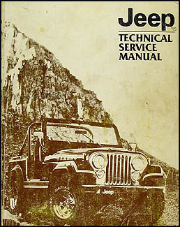 1982 Jeep Shop Manual Original - All models