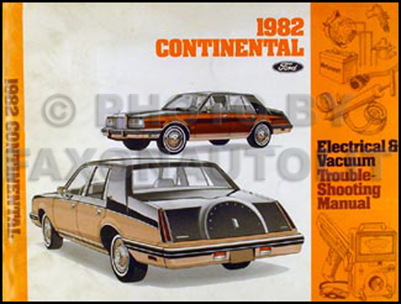 1982 Lincoln Continental Electrical Troubleshooting Manual