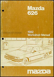 1982 Mazda 626 Repair Manual Original