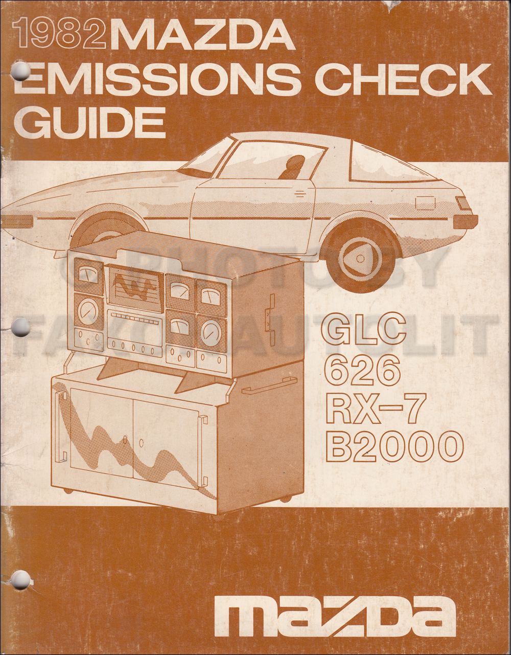 1982 Mazda Emission Check Guide Manual Original