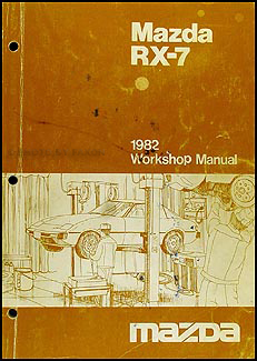 1982 Mazda RX-7 Repair Manual Original