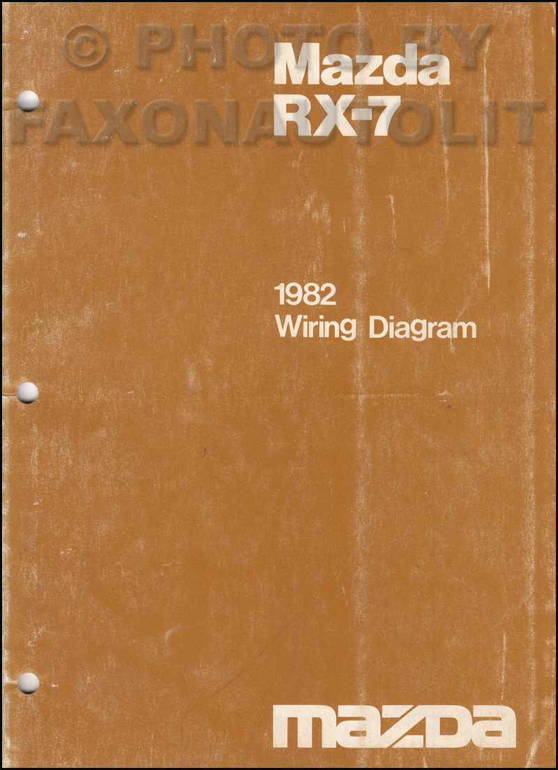 1982 Mazda RX-7 Wiring Diagram Manual Original RX7