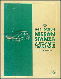1982 Datsun/Nissan Stanza Repair Shop Manual Supplement Automatic Transaxle