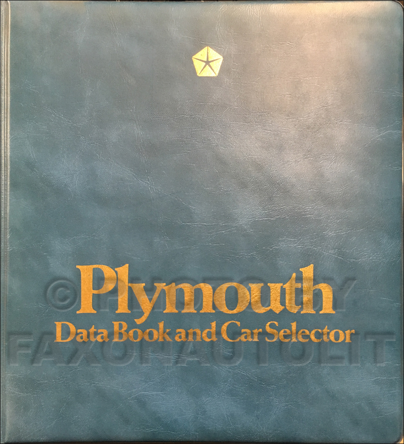 1982 Plymouth Data Book Original