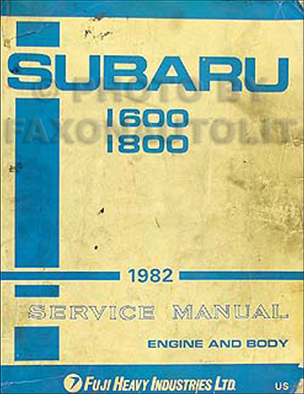 1982 Subaru Repair Manual Original