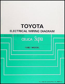 1982 Toyota Celica Supra Wiring Diagram Manual Original