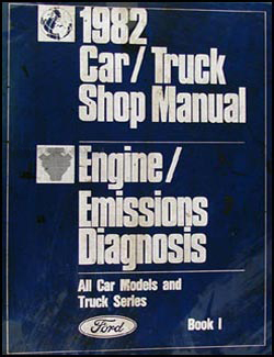 1982 Car/Truck Engine/Emissions Diagnosis Repair Shop Manual Set Original