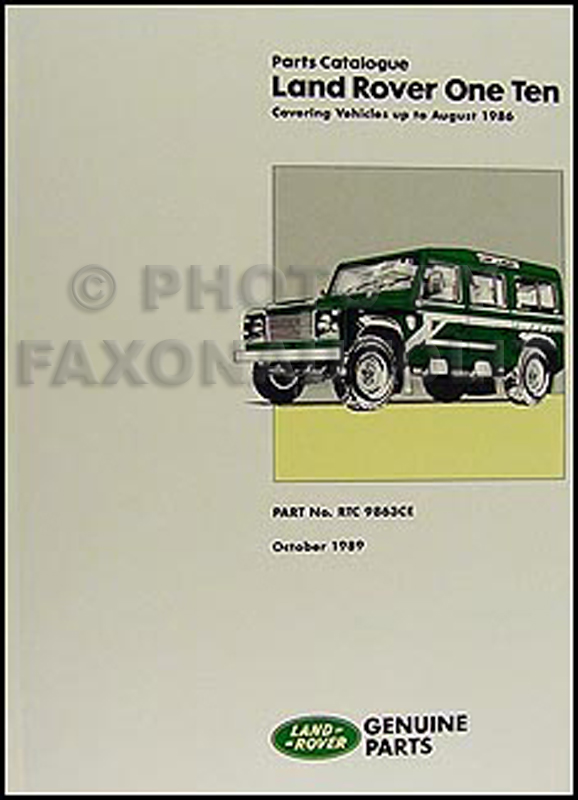 1983-1986 Land Rover 110 Parts Book Reprint