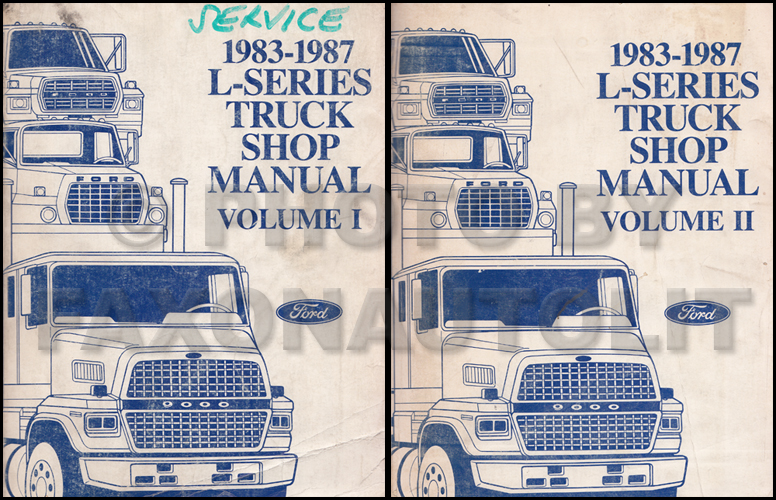 1983-1987 Ford L-Series 7000-9000 Repair Shop Manual Original 2 Volume Set