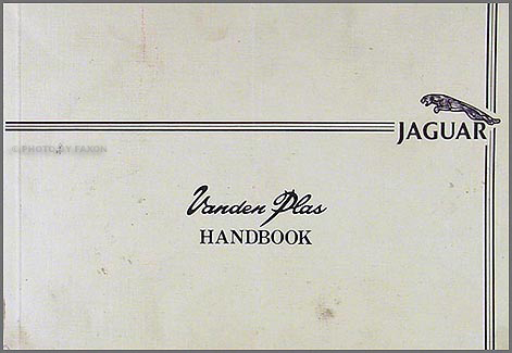 CANADIAN 1983-1987 Jaguar XJ12 Vanden Plas Owner's Manual Original