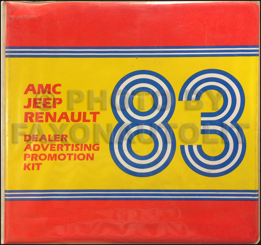 1983 AMC Jeep and Renault Ad Planner Original