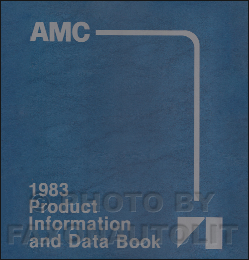 1983 AMC Color & Upholstery Album and Data Book Original