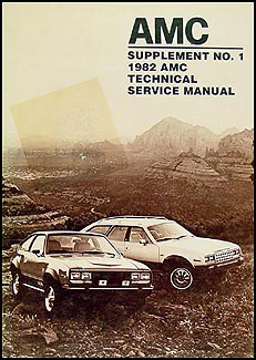 1983 AMC Repair Manual Supplement Original