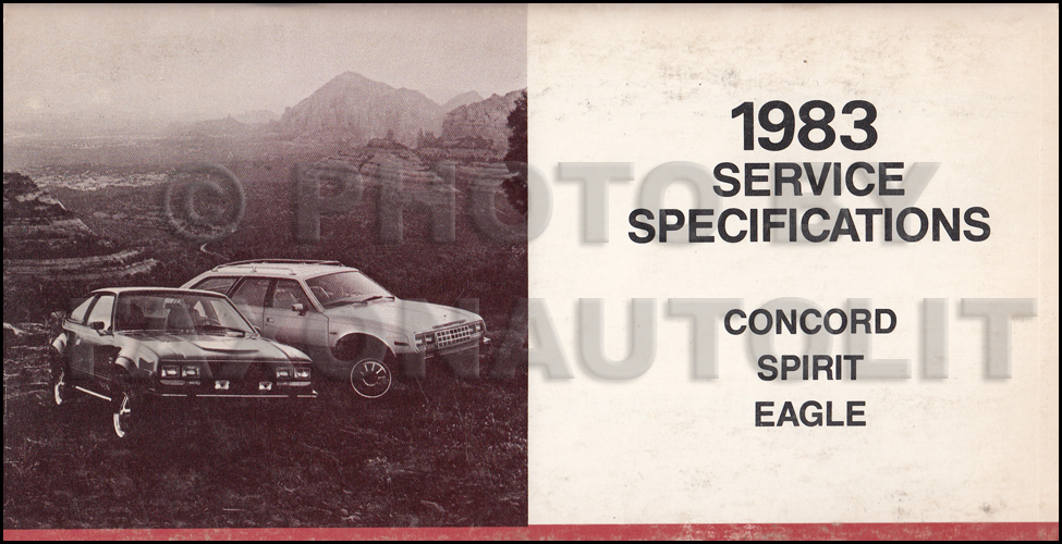 1983 AMC Service Specifications Manual