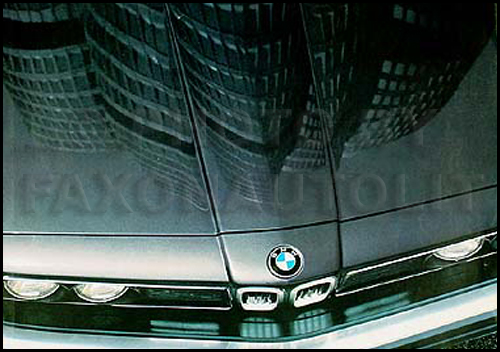 1983 BMW Original Sales Brochure Folder 320i 528e 533i 633CSi 733i