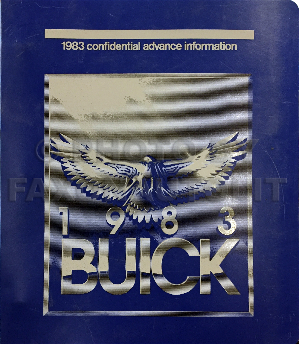 1983 Buick Advance Dealer Album Original