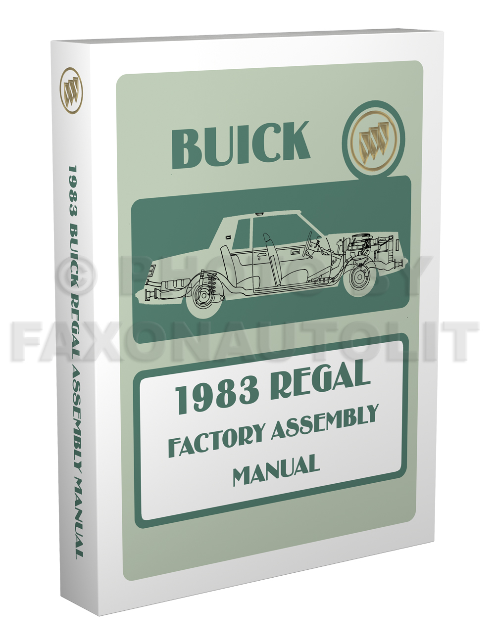 1983 Buick Regal Factory Assembly Manual Reprint