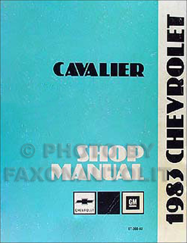 1983 Chevy Cavalier Repair Manual Original