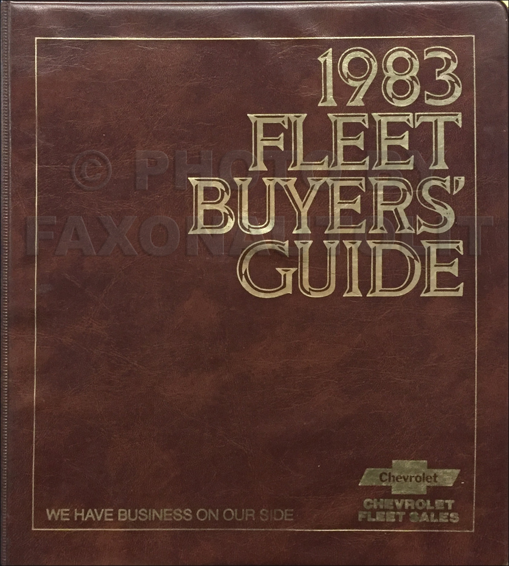 1983 Chevrolet Fleet Buyer's Guide Dealer Album Original