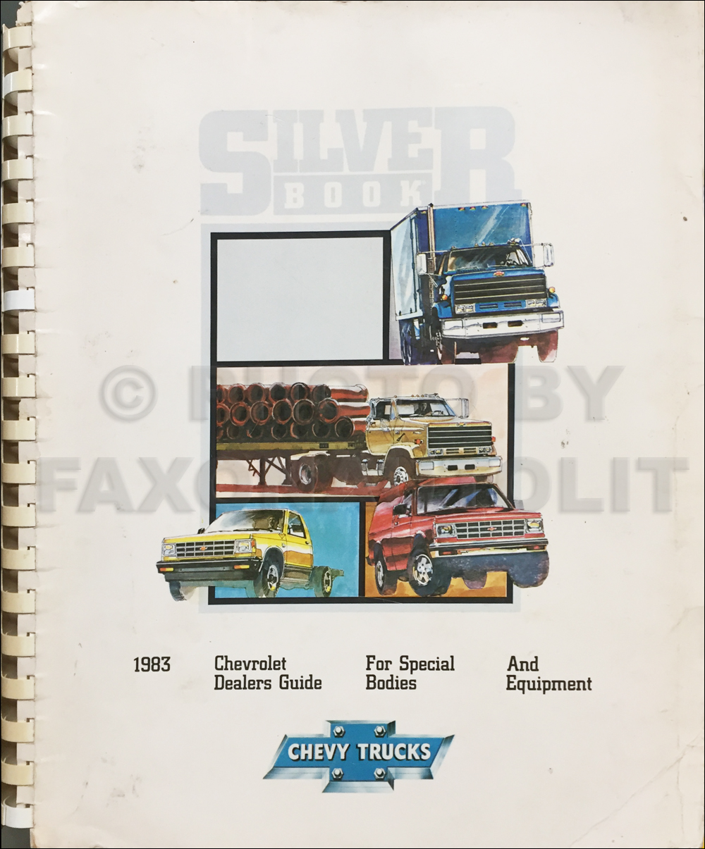 1983 Chevrolet Truck Silver Book Special Equipment Dealer Album