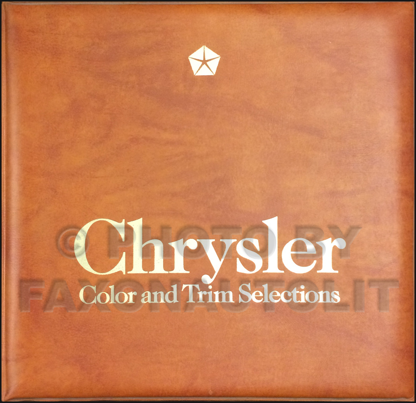 1983 Chrysler Color & Upholstery Dealer Album Original