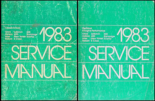 1983 MoPar FWD Car Repair Manual