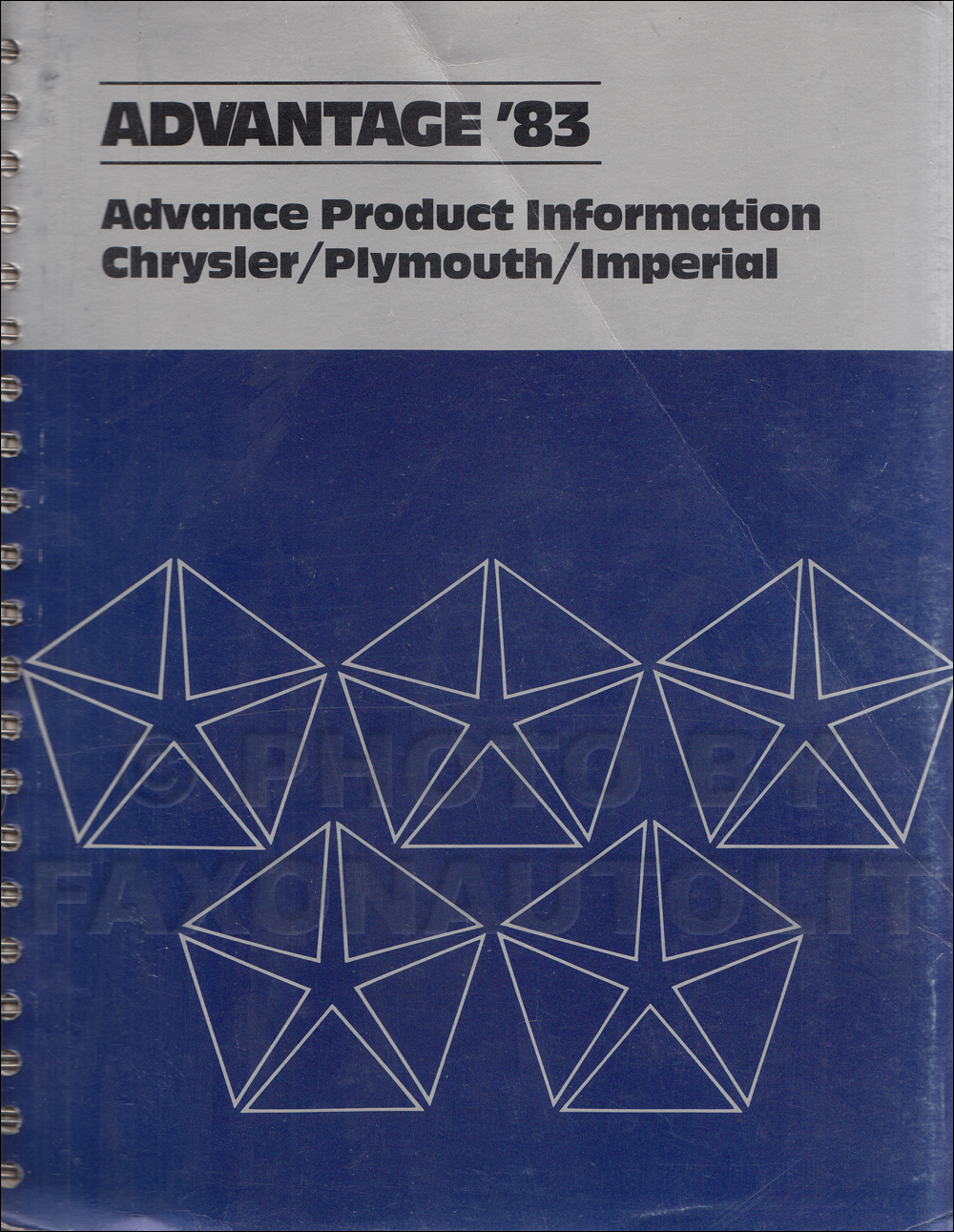 1983 Chrysler Plymouth Advance Color and Upholstery Album and Data Book Original