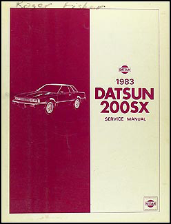 1983 Datsun 200SX Repair Manual Original