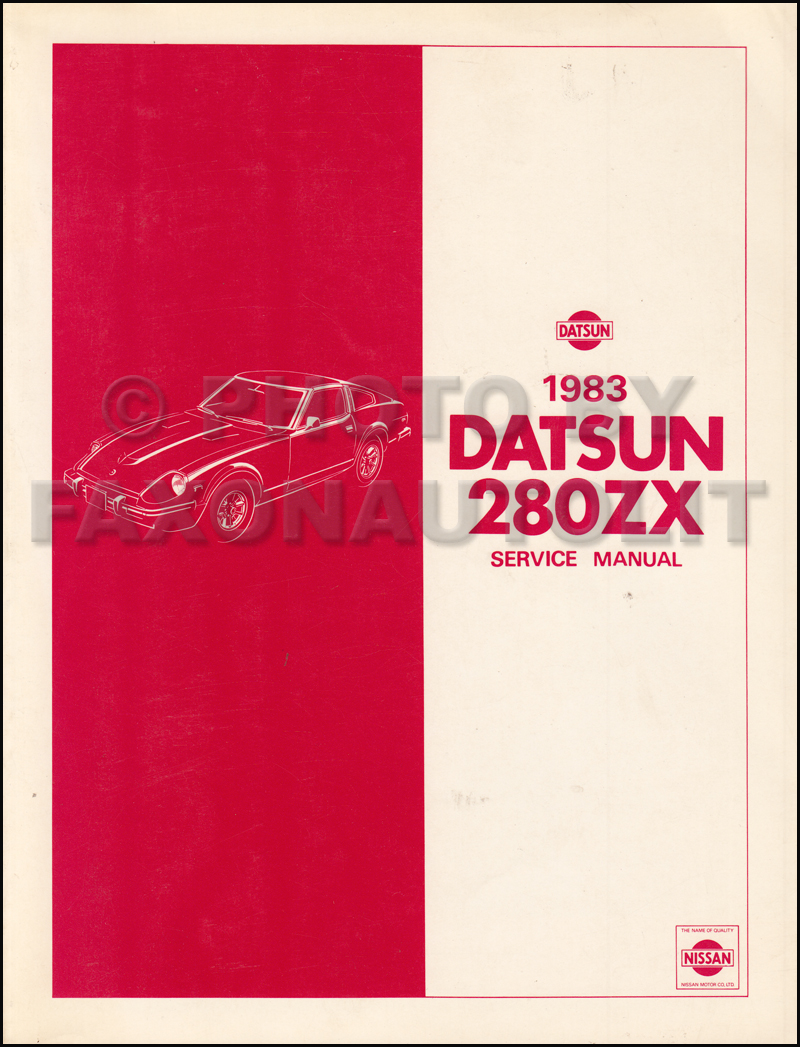 1982 Datsun 280ZX  Repair Manual Original