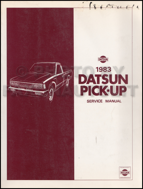 1983 Datsun Pickup Truck Repair Manual Original