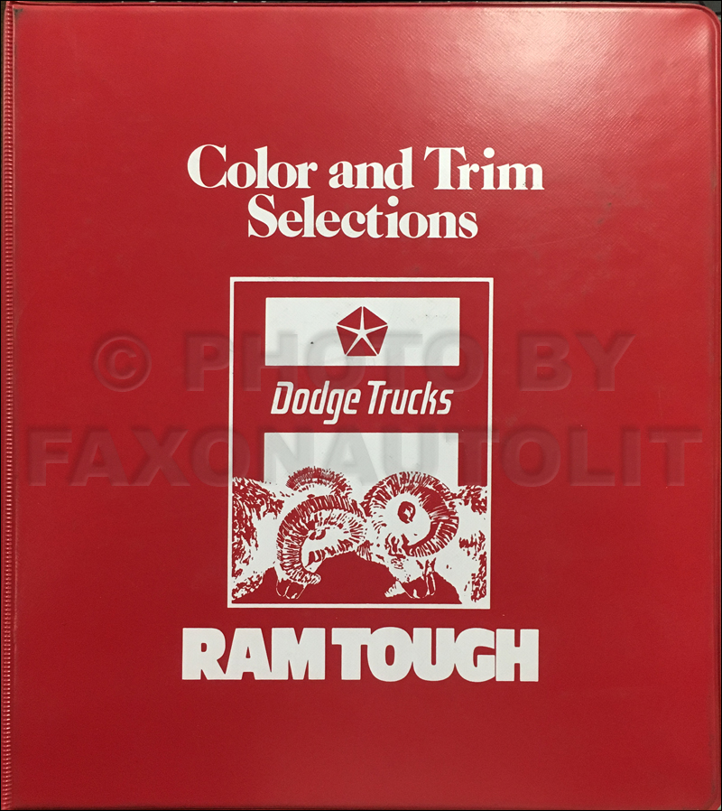 1983 Dodge Truck Color & Upholstery Dealer Album Original