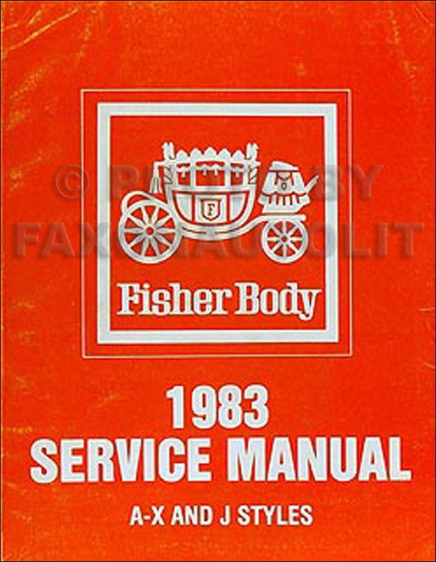 1983 Chevy/Pontiac small car Original Body Repair Manual 83