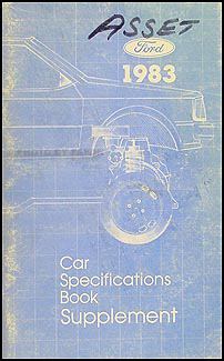 1983 2.3 Turbo Service Specification Book T bird Cougar Mustang Capri