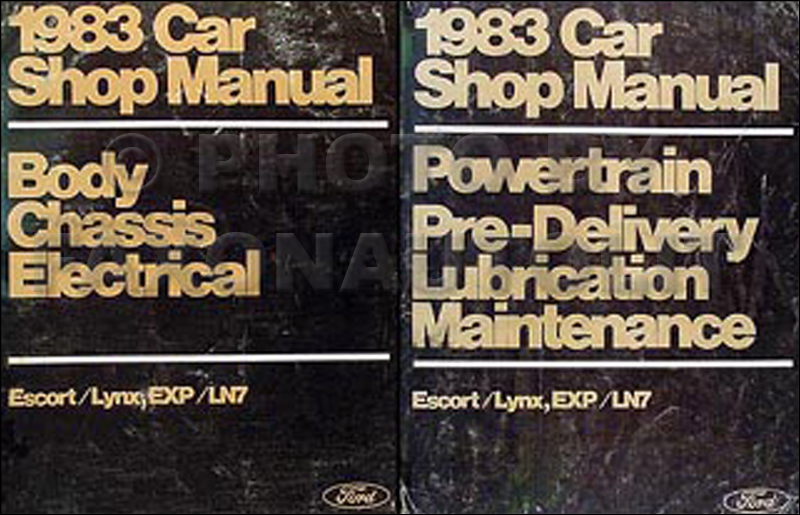 1983 Ford Escort/EXP & Merc Lynx/LN7 Shop Manual Set Original