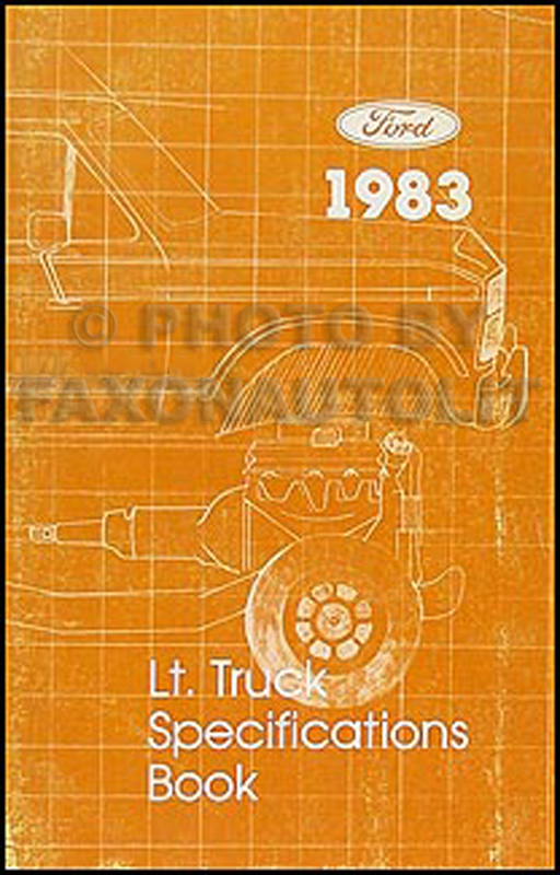 1983 Ford Pickup and Van Service Specifications Book Original