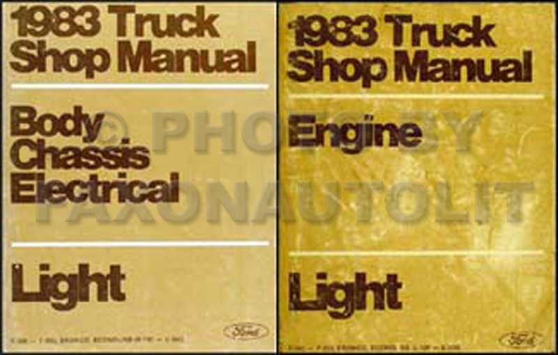 1983 Ford Truck and Van Repair Shop Manual Set Econoline F100-F350 Bronco