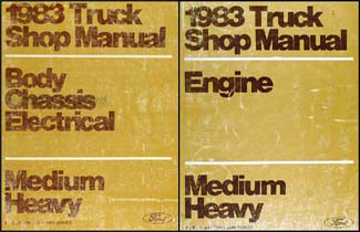 1983 Ford F B C 600-8000 Medium Heavy Truck Repair Shop Manual Set Original