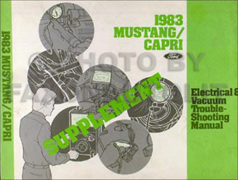 1983 Mustang Capri TURBO Electrical Troubleshooting Manual Supplement