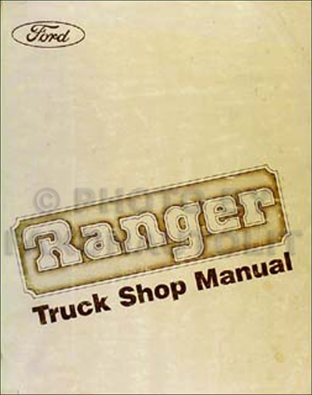 1983 Ford Ranger Repair Manual Original