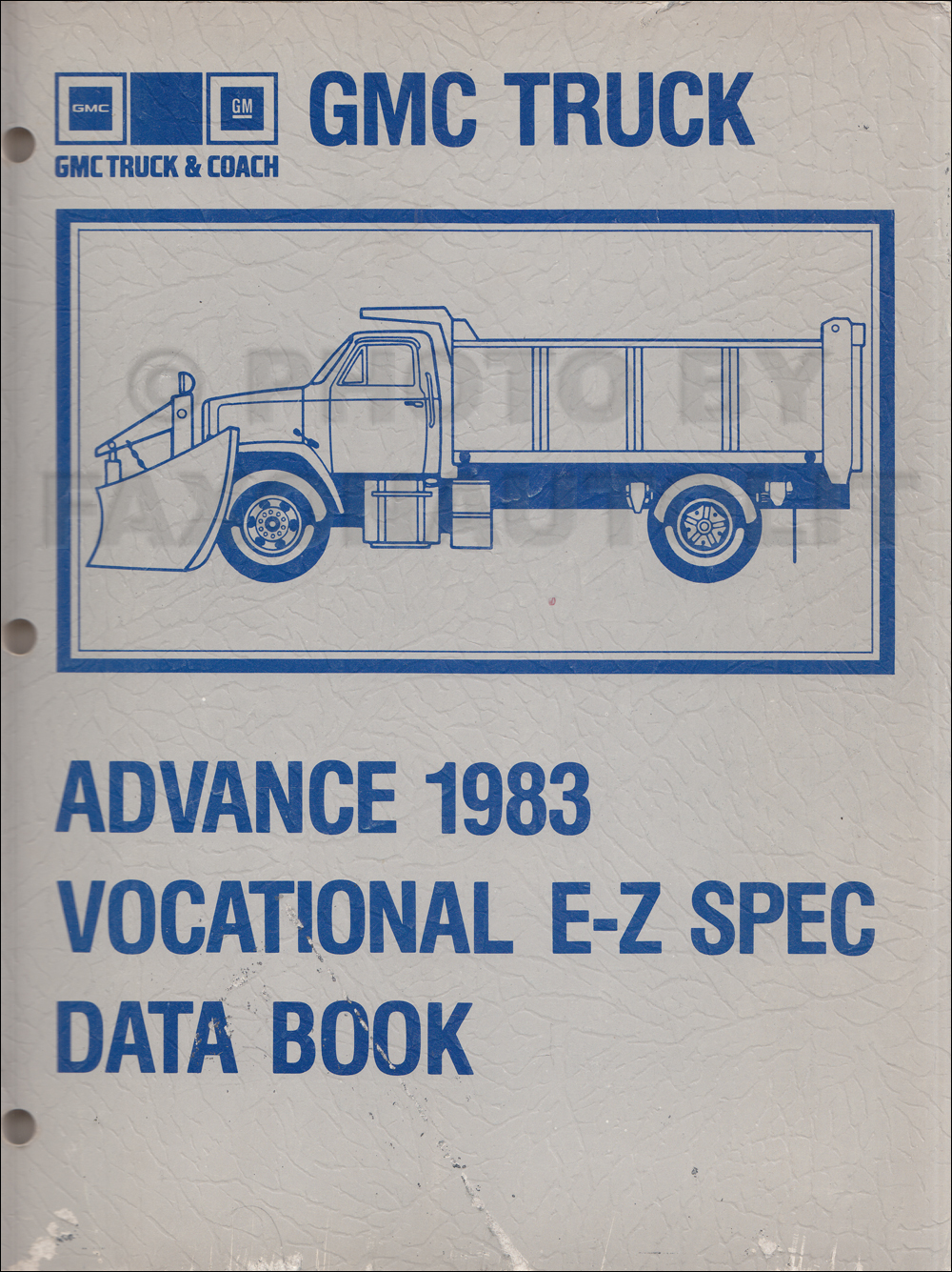 1983 GMC Truck Advance Vocational E-Z Specifications Data Book Original