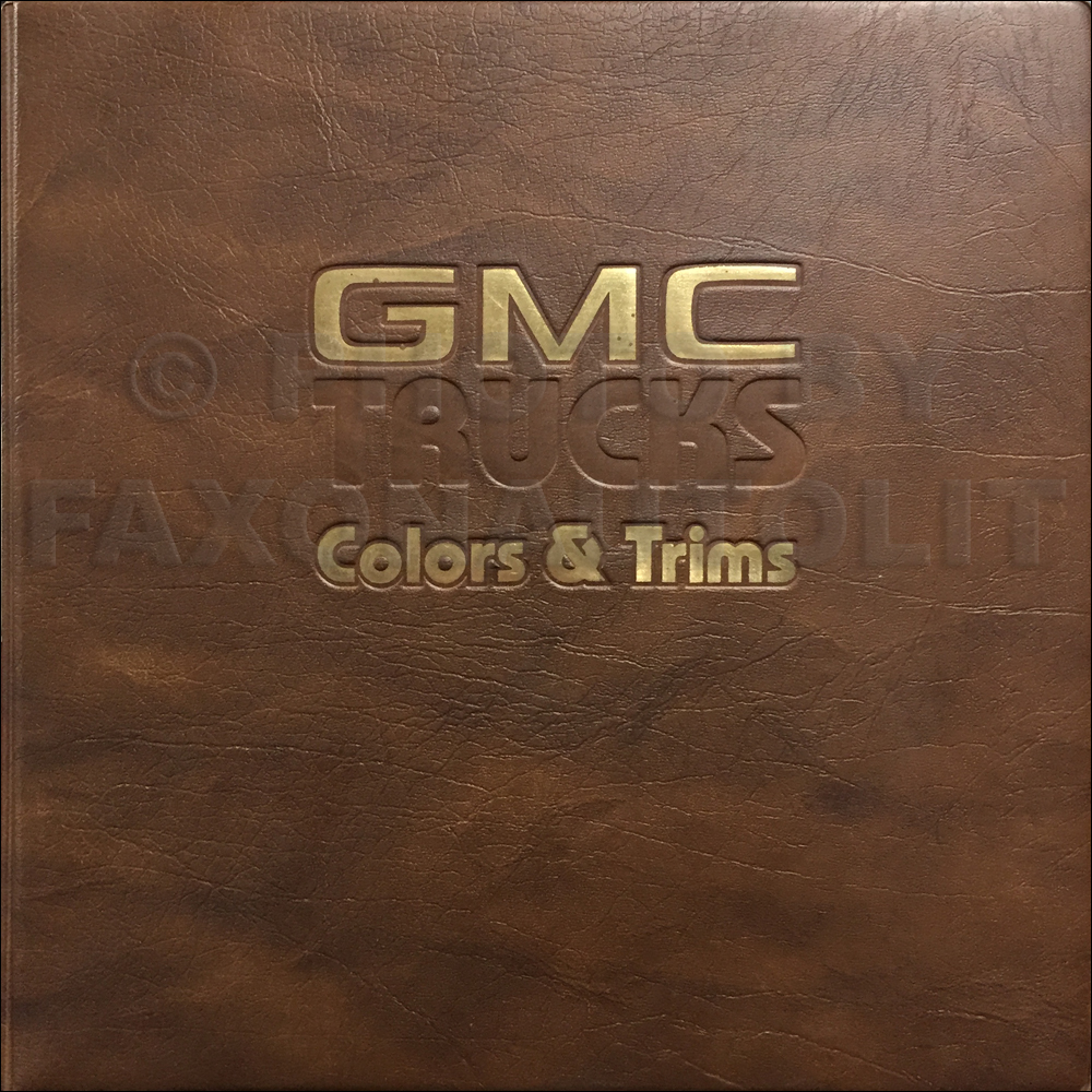 1983 GMC Color & Upholstery Dealer Album Original