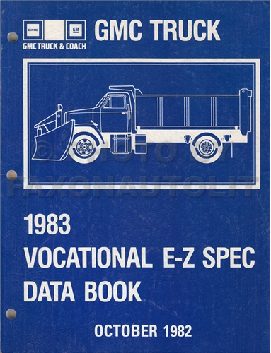 1983 GMC Truck Vocational E-Z Specifications Data Book Original
