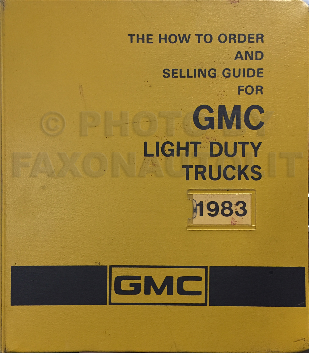 1983 GMC Light Duty Color & Upholstery Dealer Album/Data Book Original Canadian