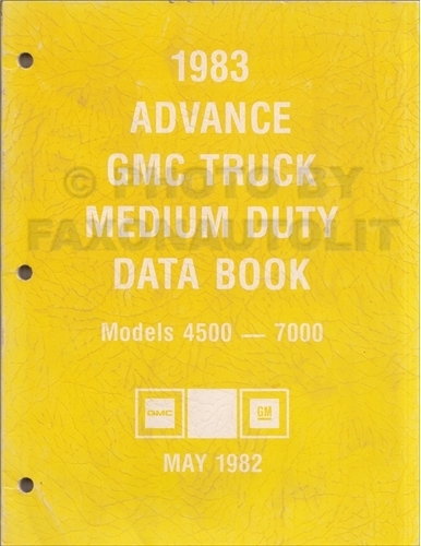 1983 GMC Advance Medium Duty Data Book Original