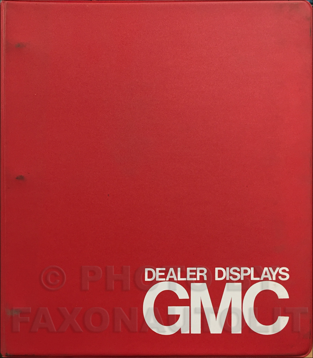 1983 GMC Dealer Displays and Signs Guide Album Original