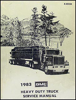 1983 GMC Heavy Duty Truck Repair Shop Manual Astro General Brigadier